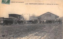 63-VERTAIZON-CHIGNAT- INTERIEUR DE LA GARE - Autres Communes