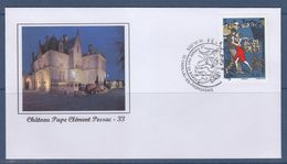 = Enveloppe N°4982 Le Tango Fête Du Timbre 1er Jour 33 Cadillac En Fronsadais 10.10.2015 Château Pape Clément Pessac - Dag Van De Postzegel