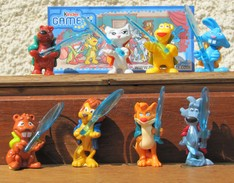 Kinder 2010 : Série Complète Game : Les Animaux Détective Avec 4 BPZ (8 Figurines) - Kinder & Diddl
