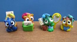 Kinder 2010 : Série Complète Les Chats Avec 3 BPZ (4 Figurines) - Lots