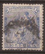 1873 Alegoria De España Edifil 137(º) VC 12,00€ - 1872-73 Reino: Amadeo I