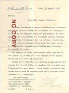 Zuppelli Vittorio Italico, 24.5.1918, Ministro Della Guerra, Firma Autografa. - Autographes
