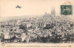 63-CLERMONT-FERRAND- L'AVIATEUR RENAUX AU DESSUS CLERMONT, A LA CONQUETE DU GRAND PRIX MICHELIN - Clermont Ferrand