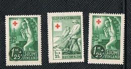 1945-46 Finland Suomi Croce Red Mh* No Gum - Briefmarken