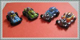 Kinder 2012 : Série SPRINTY Autos Course à Friction Avec 4 BPZ (4 Figurines) - Lots