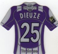 Magnet Magnets Maillot De Football Pitch Toulouse Dieuze 2008 - Sports