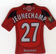 Magnet Magnets Maillot De Football Pitch Rennes Jeunechamp 2008 - Sports