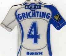 Magnet Magnets Maillot De Football Pitch Auxerre Grichting 2009 - Sports
