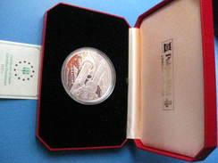 ESTUCHE CON 1 MONEDA DE PLATA DE GIBRALTAR AÑO 1993 DE 70 ECUS DEL EUROTUNNEL ENGLAND-FRANCE  CERTIFICADO DE GARANTIA - Gibraltar