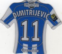 Magnet Magnets Maillot De Football Pitch Grenoble Dimitrijevic 2009 - Sports