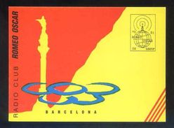 Tarjeta Postal *Radioaficionado* *Radio Club Romeo Oscar.Barcelona* Ver Dorso. - Radio Amateur