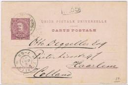 Ponta Delgada, 1899, Bilhete Postal Ponta Delgada-Haarlem - Ponta Delgada
