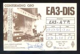 Tarjeta *Radioaficionado* *EA3-DIS. Navàs. Barcelona 1991* Ver Dorso. - Radio Amateur