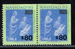 Chile 1993, Michel# 1584 O Aus MH - Noël