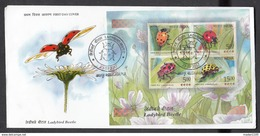 INDIA, 2017, FDC, Ladybird Beetle, Insect, Fauna, Miniature Sheet, Jabalpur Cancelled - FDC