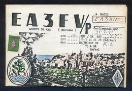 Tarjeta *Radioaficionado* *EA3FV/P - Arenys De Mar* Meds. Abierto: 157 X 215 Mms. Ver Interior. - Radio Amateur