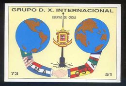 Tarjeta *Radioaficionado* *Grupo D.X. Internacional* Meds: 109 X 160 Mms. Ver Dorso. - Radio Amateur