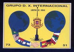 Tarjeta *Radioaficionado* *Grupo D.X. Internacional* Meds: 104 X 154 Mms. Ver Dorso. - Radio Amateur
