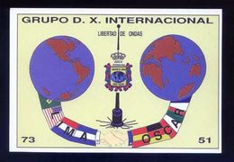 Tarjeta *Radioaficionado* *Grupo D.X. Internacional* Meds: 100 X 147 Mms. Ver Dorso. - Radio Amateur