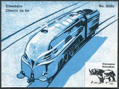 RAILWAY Train Steam Locomotive Eisenbahn Zug Chemin De Fer Rhinoceros Vignette Poster Reklamemarke Lindt & Sprüngli - Trains