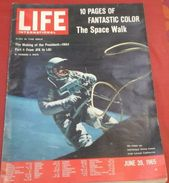 LIFE International 28 Juin 1965 10 Pages De Photos Et Textes Sur GEMINI IV, Président JOHNSON - Revues & Journaux