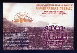 Tarjeta *Radioaficionado* *Uniform Mike. International Radio Group* Ver Dorso. - Radio Amateur