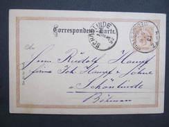 GANZSACHE Retz - Schönlinde Vinc. Liebl 1892 //// D*25536 - 1850-1918 Imperium