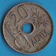 GRECE GREECE 20 LEPTA 1912 George I Royaume KM# 64 Athéna - Grèce