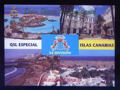 Tarjeta *Radioaficionado* *QSL. Especial Islas Canarias* Meds: 103 X 142 Mms. Ver Dorso. - Radio Amateur