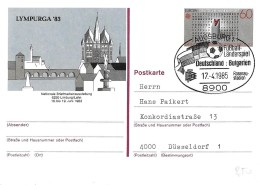 """T1-99 - Entier Postal Allemand Avec Oblit Spéciale """"Match Allemagne-Bulgarie"""" 1985 - Football"""