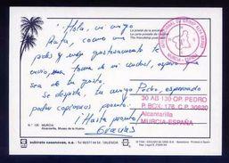 Tarjeta Postal Con Tampon *Radioaficionado* *Alcantarilla, Murcia* Ver Dorso. - Radio Amateur