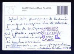 Tarjeta Postal Con Tampon *Radioaficionado* *Atlantic Voice Int. DX Group...* Ver Dorso. - Radio Amateur