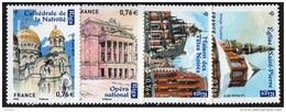 France N° 4938 à 4941  ** Capitale De La Lettonie, Riga - Eglise St Pierre, Opéra, Maison Des Têtes Noires Etc... - France