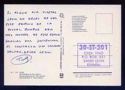 Tarjeta Postal Con Tampon *Radioaficionado* *30-ST-201. Leon* Ver Dorso. - Radio Amateur