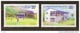 Christmas Island 1980 Yvertn° 134-35 ***  MNH Cote 3 Euro Sport Golf - Christmas Island