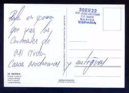 Tarjeta Postal Con Tampon *Radioaficionado* *30EE22. Mérida* Ver Dorso. - Radio Amateur