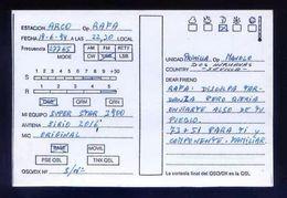 Tarjeta Postal Con Tampon *Radioaficionado* *Dos Hermanas...* Ver Dorso. - Radio Amateur