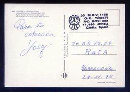 Tarjeta Postal Con Tampon *Radioaficionado* *30MRV1166. Jerez, Cadiz...* Ver Dorso. - Radio Amateur
