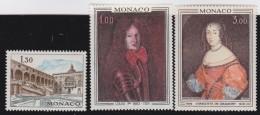 Monaco    .     Yvert   .     844/846     .    **     .   Neuf SANS Charniere   .    /   .   MNH - Nuevos