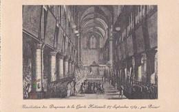 PARIS IV CPA Dessin Historique D' Après Prieur NOTRE DAME Bénédiction Des DRAPEAUX De La GARDE Nationale En 1789 - Distretto: 04
