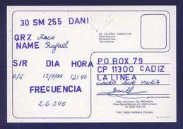 Tarjeta Postal Con Tampon *Radioaficionado* *30SM255. La Línea. Cadiz...* Ver Dorso. - Radio Amateur