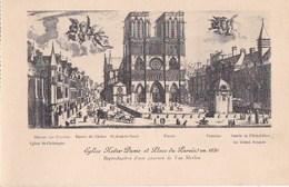 PARIS IV CPA D' Après Gravure De Van Merlen NOTRE DAME  Place Du PARVIS Animée En 1650 ANGES Allégories - Arrondissement: 04