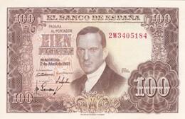 BILLETE DE ESPAÑA DE 100 PTAS DEL 7/04/1953 SERIE 2W CALIDAD EBC (XF) (BANKNOTE) - 100 Pesetas
