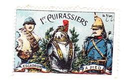 Vignette Militaire Delandre - 1er Régiment De Cuirassiers - Vignettes Militaires