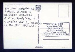 Tarjeta Postal Con Tampon *Radioaficionado* *30AN022. Villablanca, Huelva...* Ver Dorso. - Radio Amateur