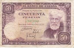 BILLETE DE ESPAÑA DE 50 PTAS DEL 31/12/1951 SERIE C  (BANKNOTE) - [ 3] 1936-1975 : Régimen De Franco