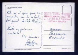 Tarjeta Postal Con Tampon *Radioaficionado* *30-TE-103. Isla Cristina...* Ver Dorso. - Radio Amateur
