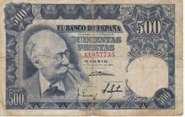 BILLETE DE 500 PTAS DEL AÑO 1951  SERIE A -  MARIANO BENLLIURE  (BANKNOTE) - [ 3] 1936-1975 : Regency Of Franco