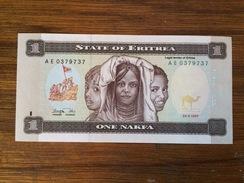 BANQUE OF ERITREA-ONE NAKFA - Erythrée