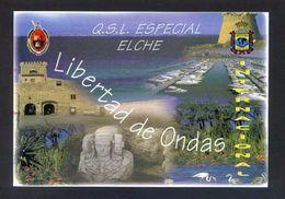 Tarjeta *Radioaficionado* *QSL Especial Elche, Alicante...* Ver Dorso. - Radio Amateur